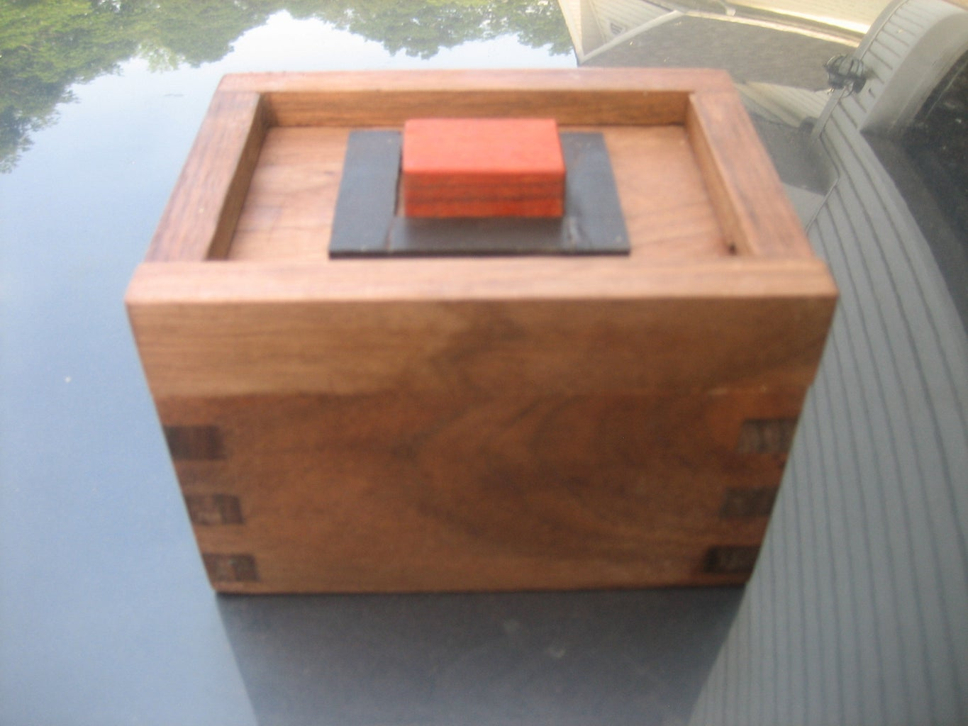 THE RED STONE PUZZLE BOX WITH PLANS