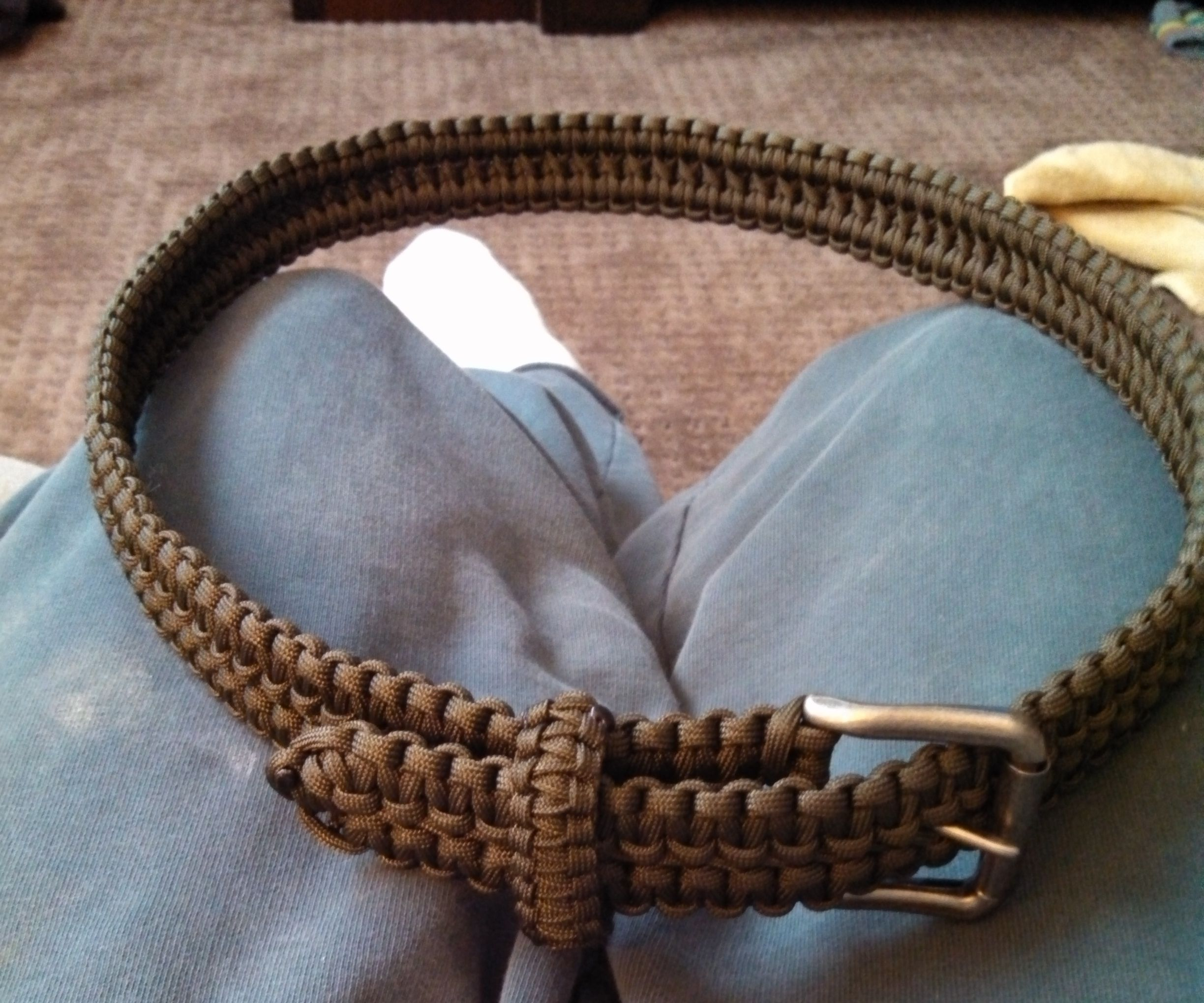 Double Cobra Stitch Paracord Belt