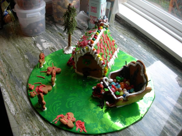 Zombie Overrun Gingerbread House
