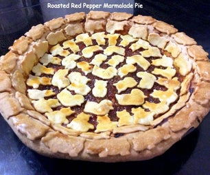 Roasted Pepper Marmalade Pie With Decorative Crust