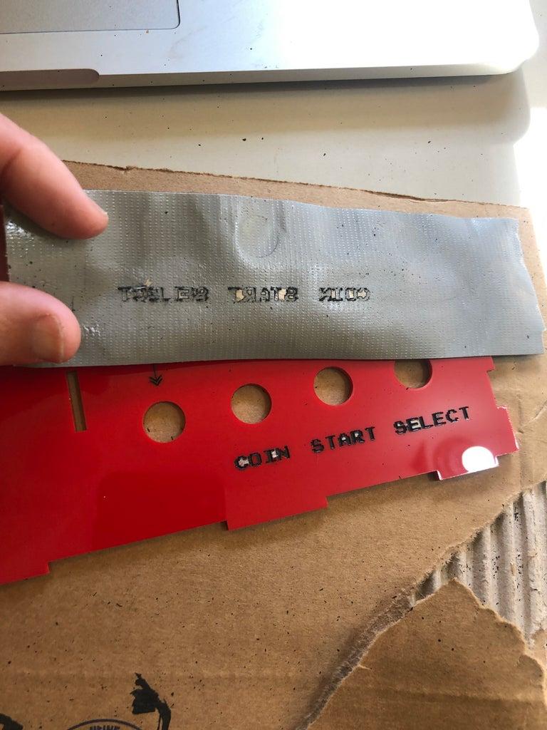 Inking the Engraved Acrylic