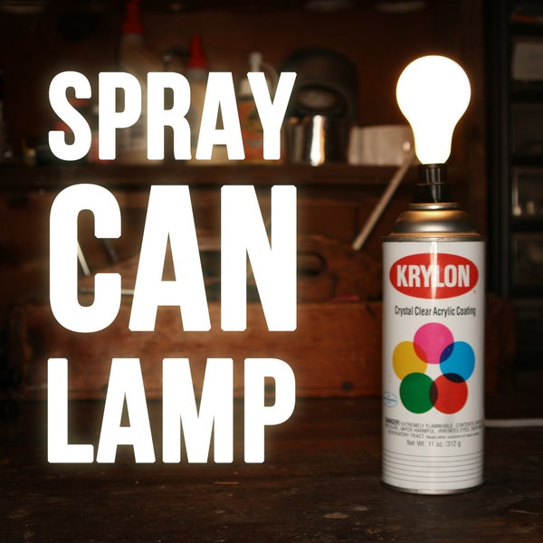 Spray Paint Can Lamp
