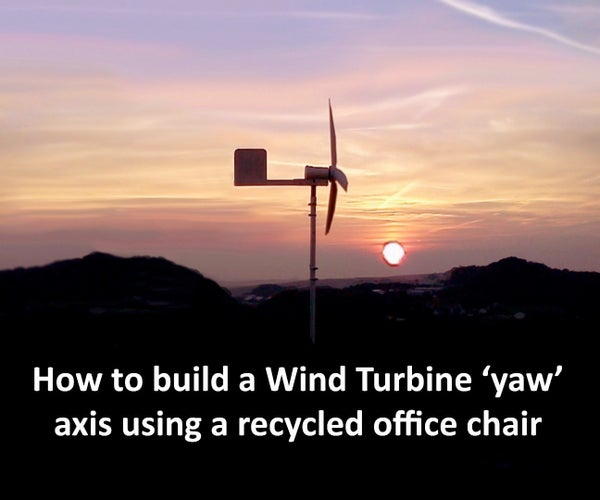 Wind Turbine Mount Using Old Office Chair