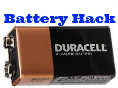 Turn a 9 volt battery into 6 AAA batteries in under 2 minutes (video)