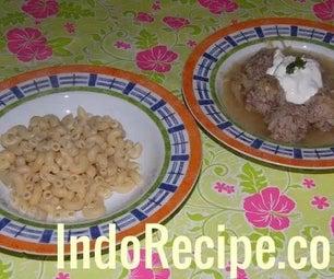Meatballs and Sauerkraut Soup (Hungarian Dish)