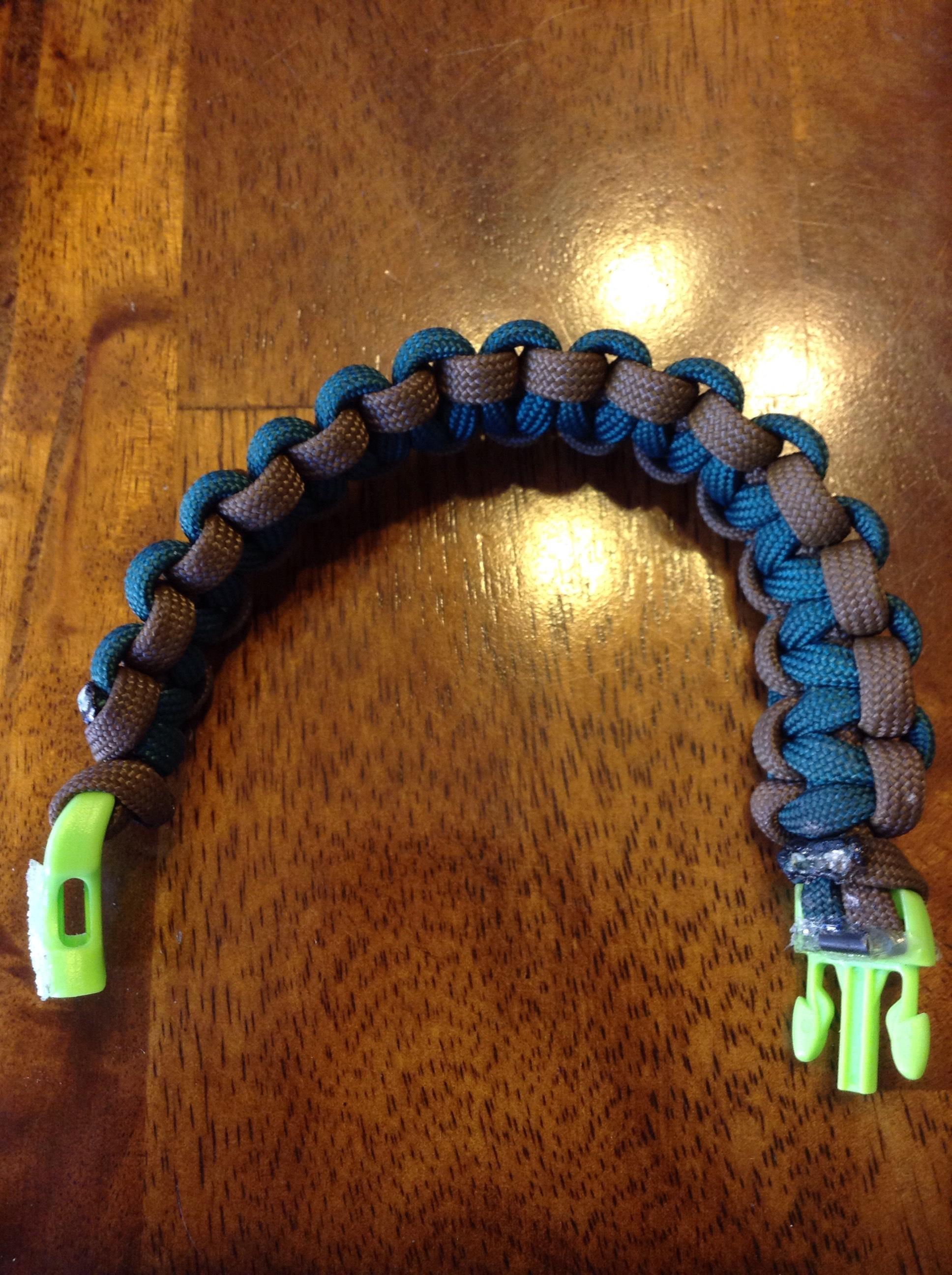 Survival Bracelet With Flint