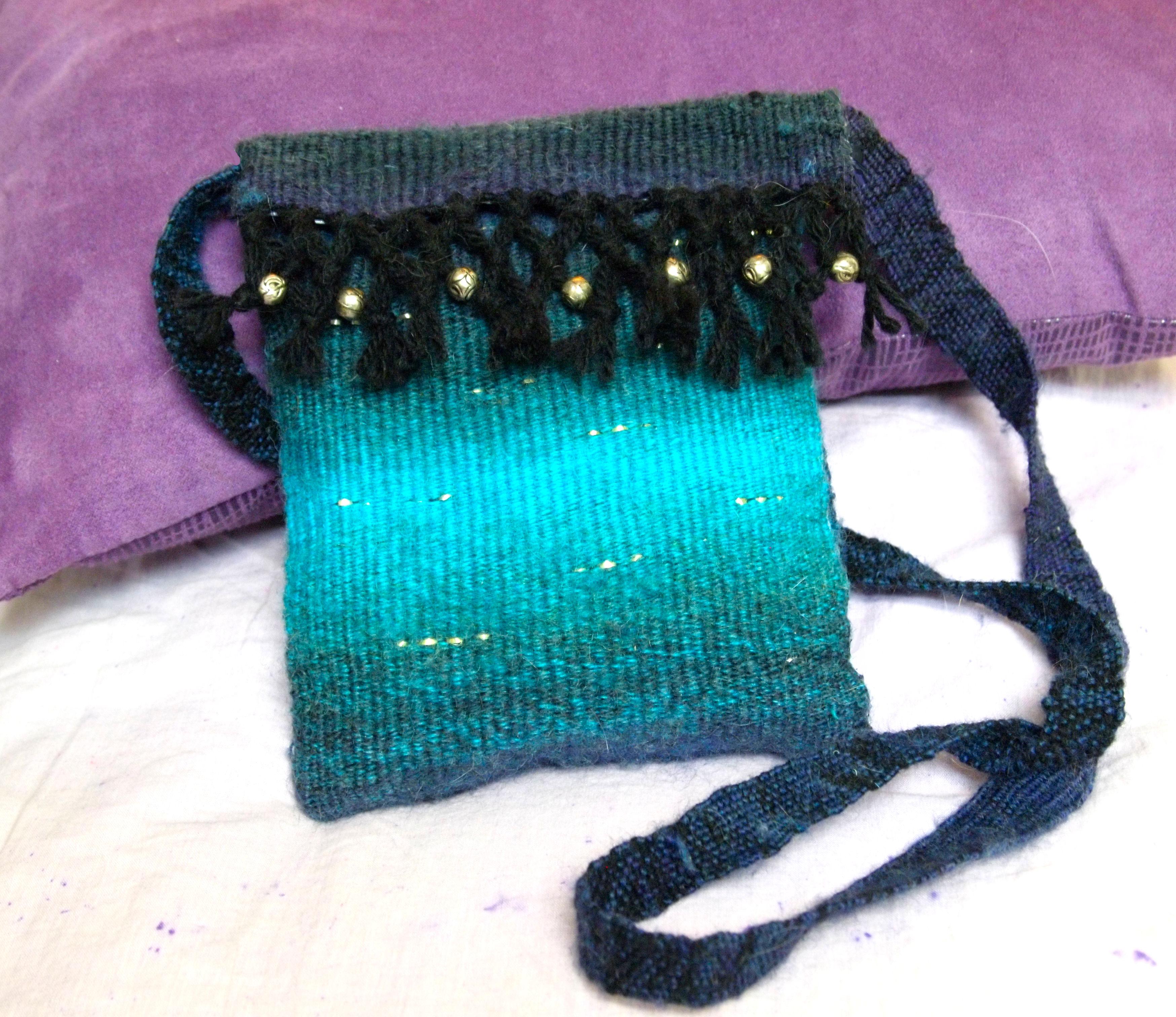 Woven Wool Purse
