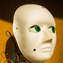 Robotic Head Directed to Light. From Recycled and Reused Materials