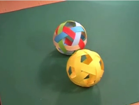 """How To Weave A Greek Paper """"Football"""""""