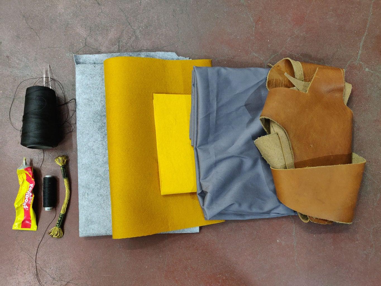 Leather and Felt Bag
