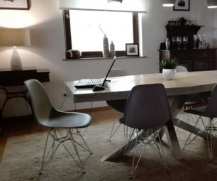 Concrete Dining Table With Foam Core and Carbon Fiber Reinforcement
