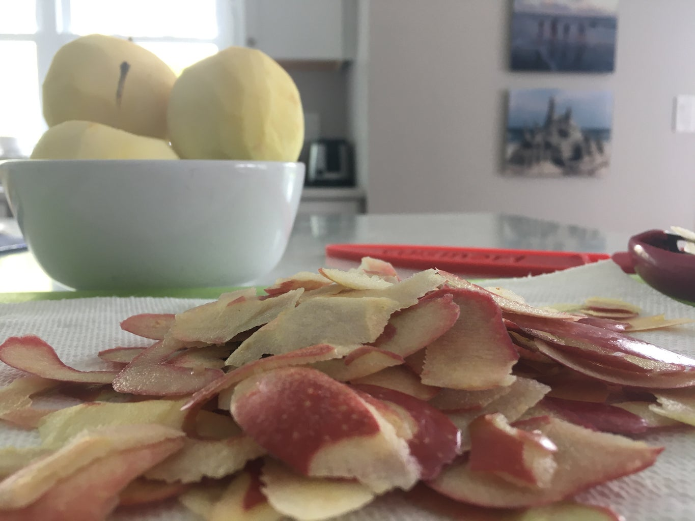 Peel 3 Apples (1 Apple = 1 Cup!!) and Finely Chop the Apples.
