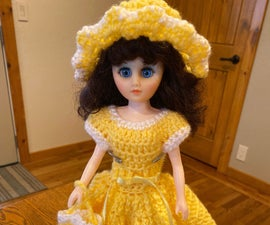 Crocheted Dress for 13 Inch Dolls