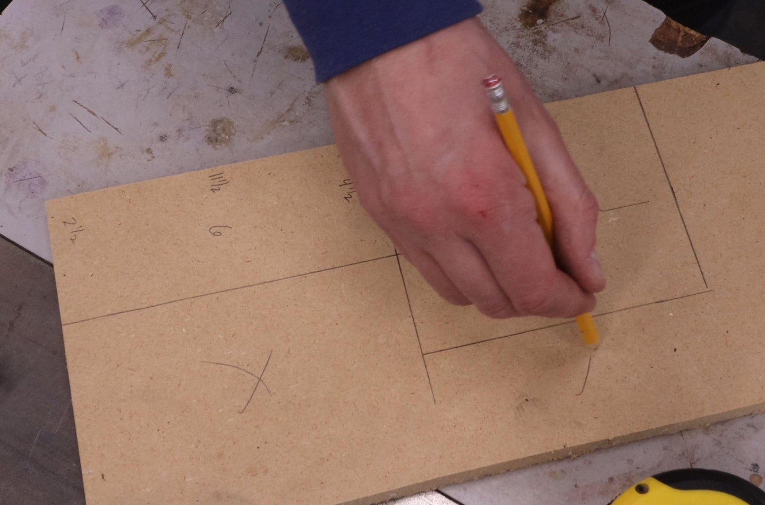 Measure Back Opening, Cut Covers