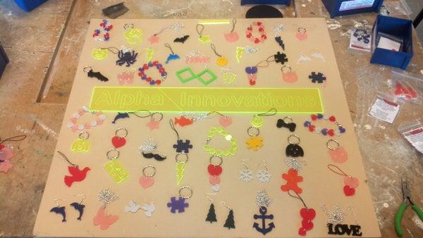 Laser-cut Acrylic Jewellery (making+selling)