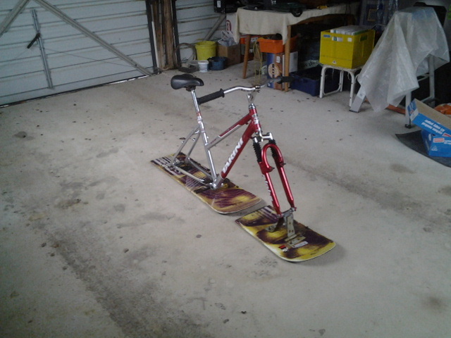 How to make a snowboard bike