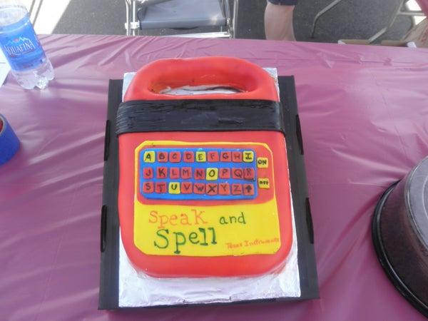 Speak & Spell Cake for My Son's School Carnival