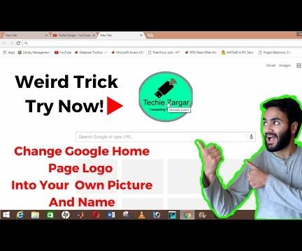 How to Change Google Logo to My Name Permanently