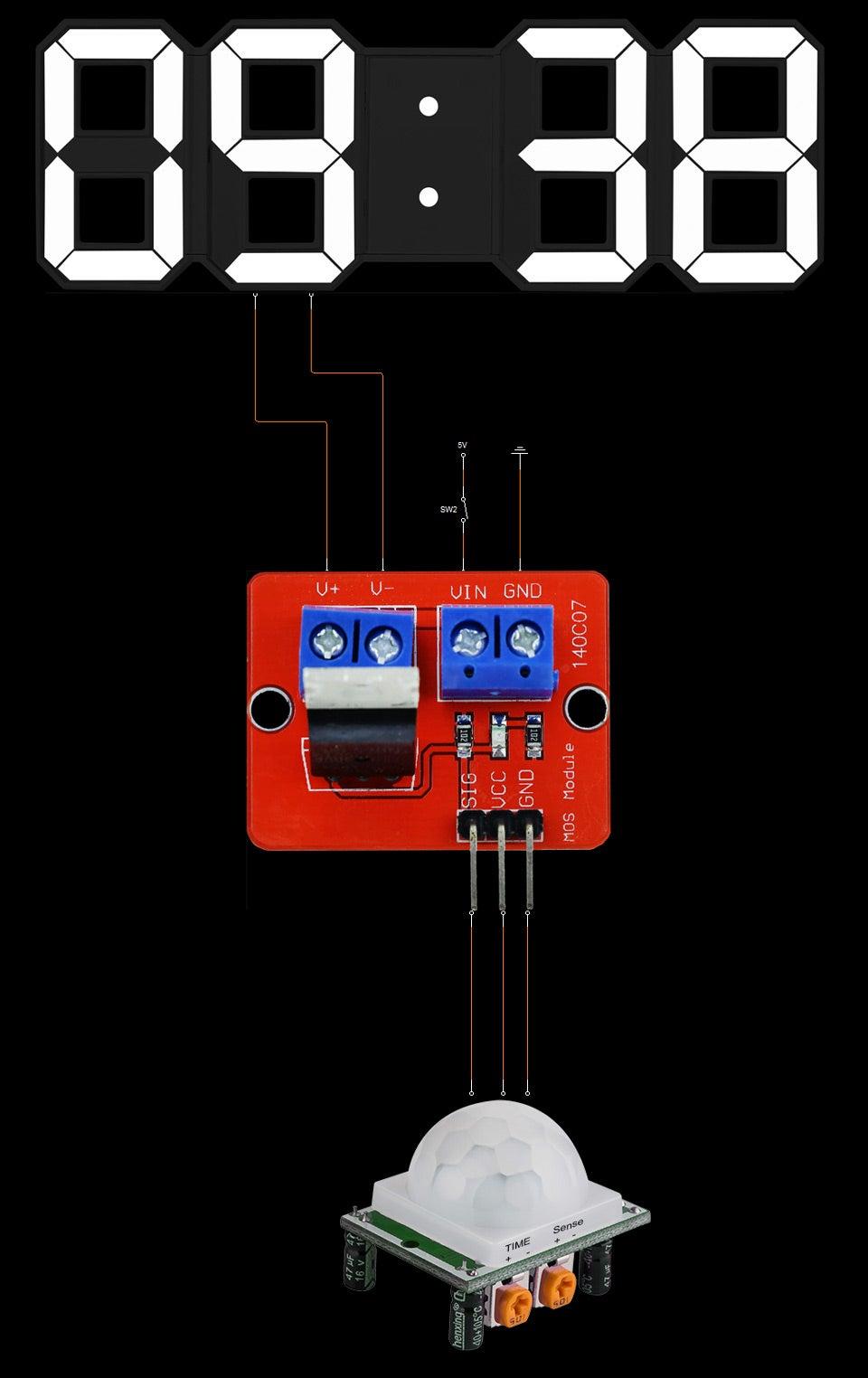 Schematic With PIR Module