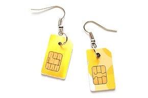 How to Make SIM Card Earrings