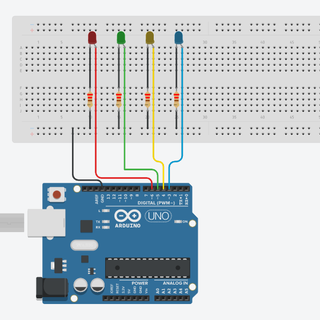 Blink Multiple Leds at Different Rates, 1 Function, No Delay