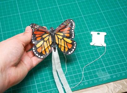 DIY Mini BUTTERFLY Kite | How to Make a Tiny Kite