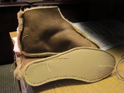 Sew Uppers to Soles