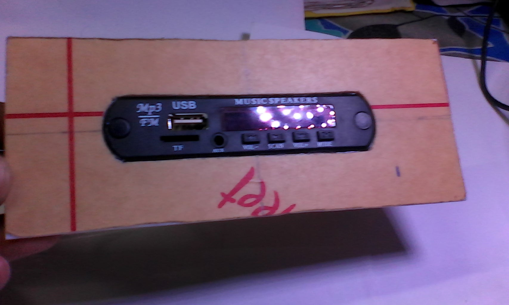 Install Stereo Audio Kit, Amplifier and Bluetooth Module to the Upper Panel of BBox