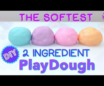 SUPER SOFT PLAYDOUGH! ONLY 2 INGREDIENTS!