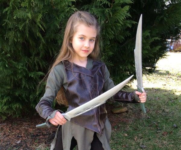 Tauriel (The Hobbit) Elvish Daggers - Quick Wooden Cosplay Props