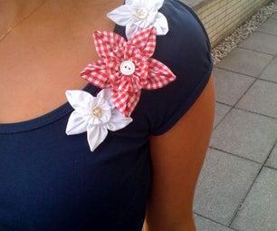 Fabric Flowers! Easy Tutorial