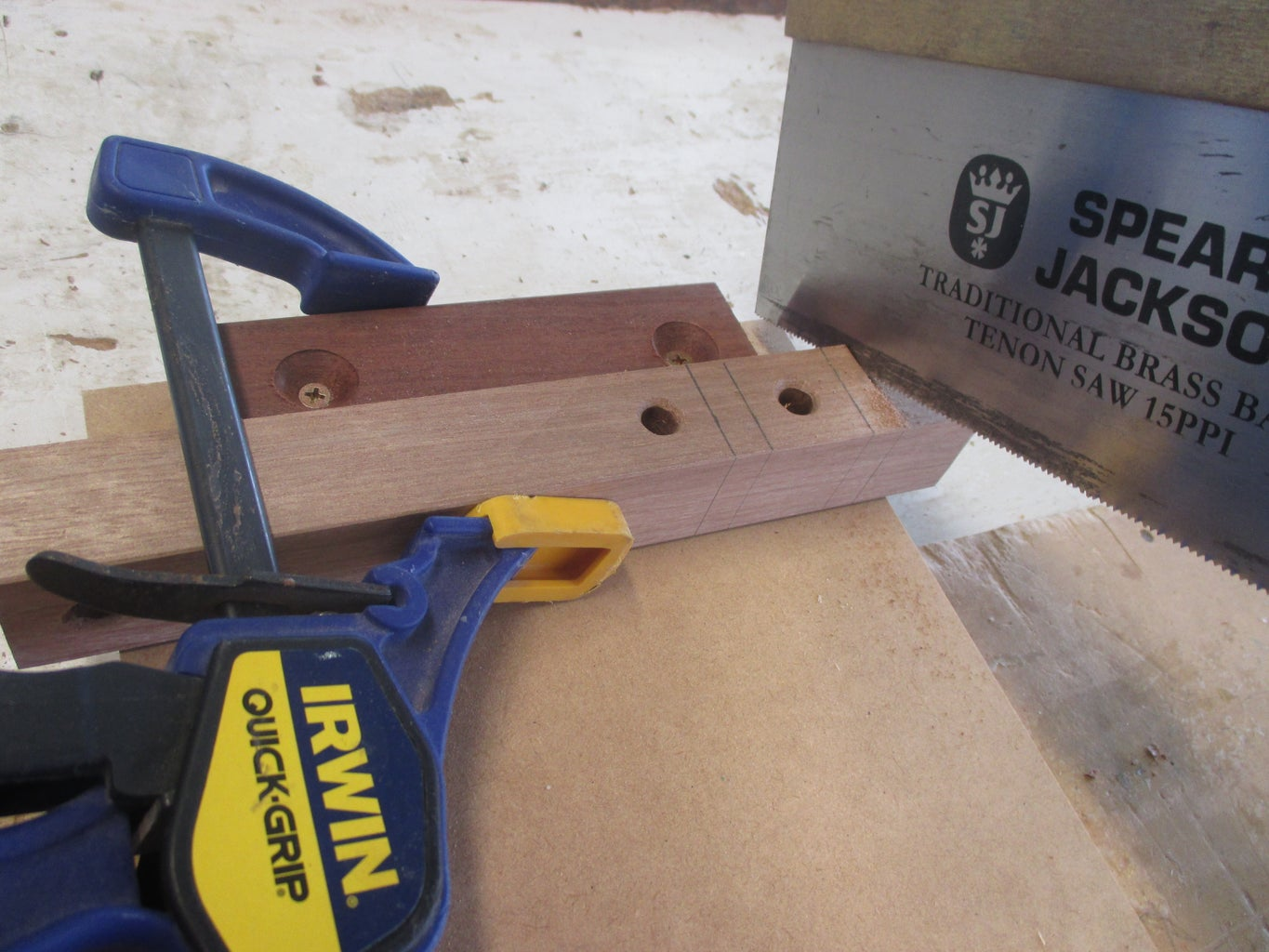 Sawing Into Parts