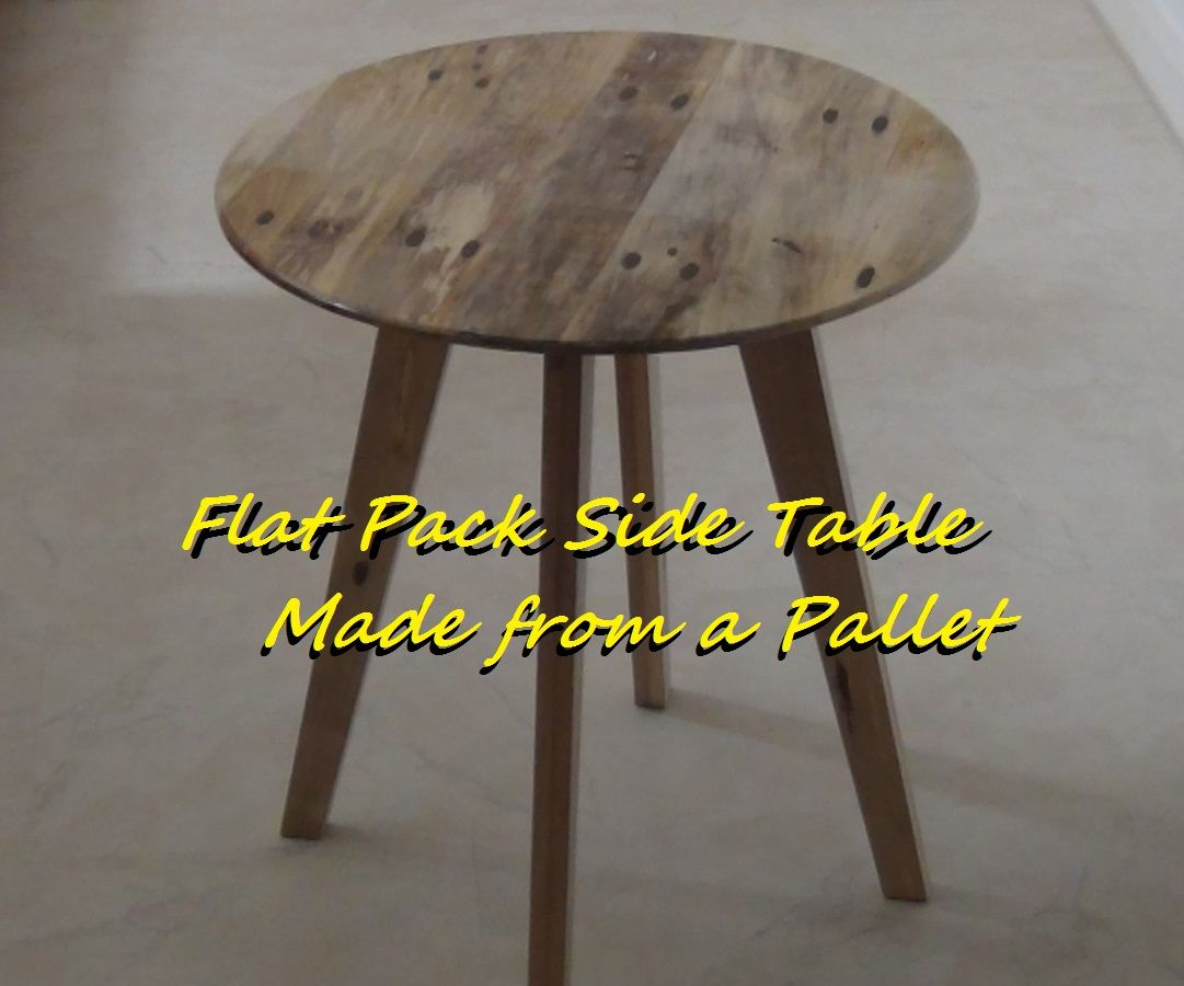 Flat Pack Circular Side Table