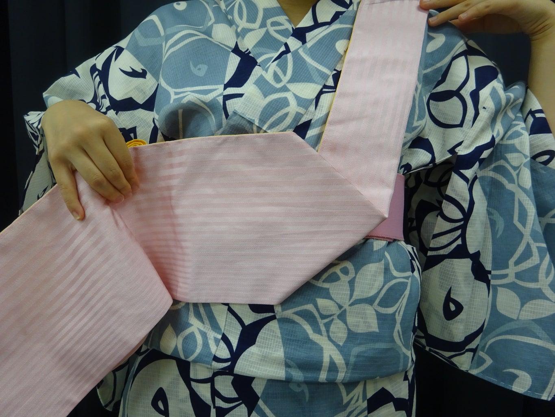 Step 8:How to Tie an Obi for Yukata
