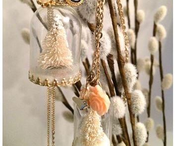 Miniature Tree Necklace- Winter Wonderland