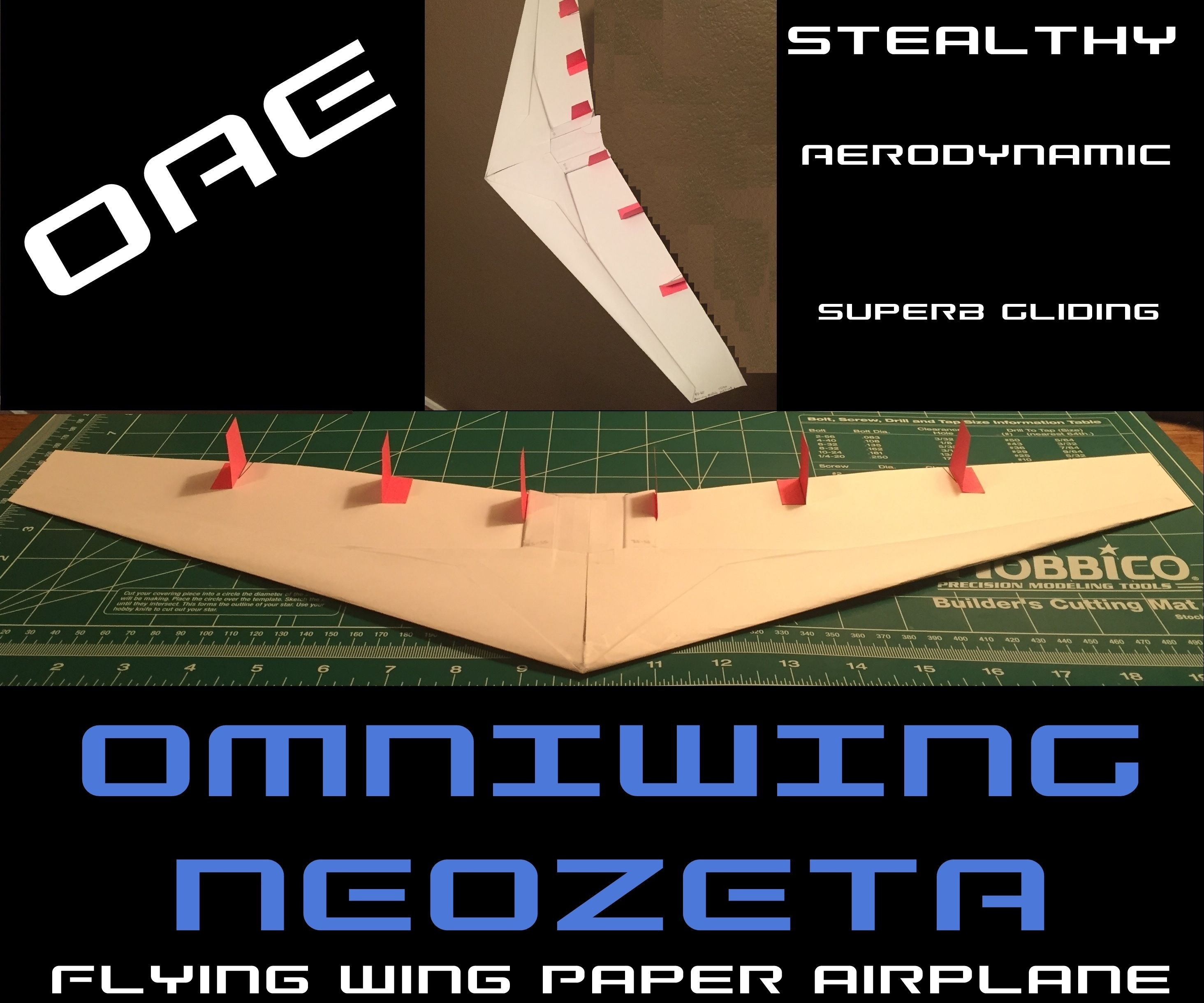 How to Make the Omniwing NeoZeta Paper Airplane