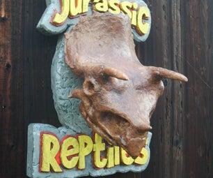 3D Triceratops Skull Sign