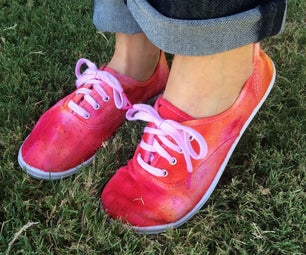 Fun Ice Dyed Shoes