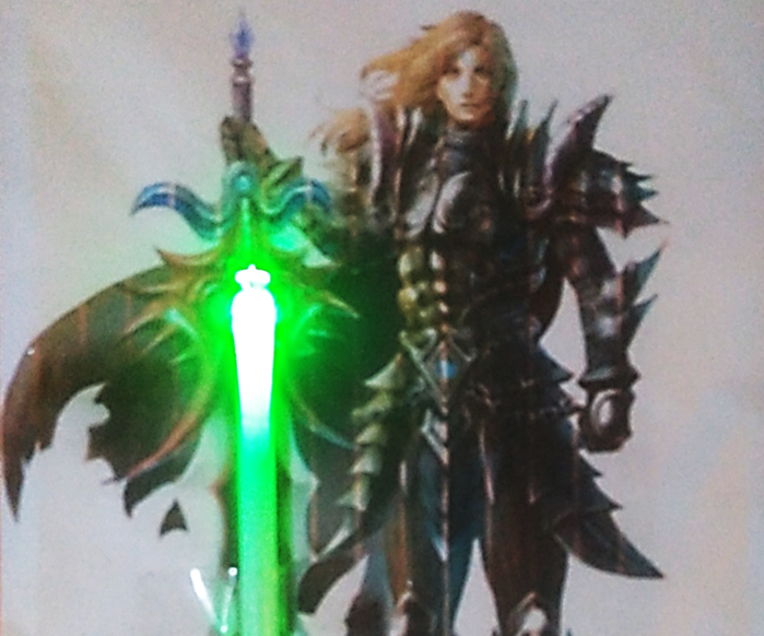 Lighting Sword Greeting Card (Paper Ciruit)