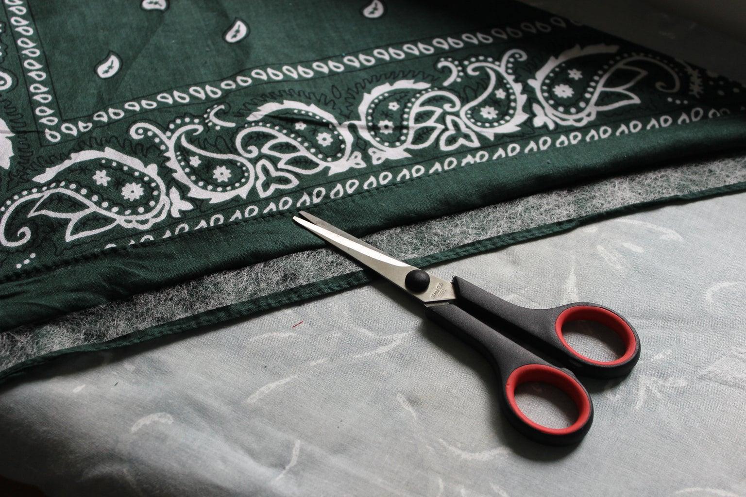 Bandana Roll Up Design Part 1: Iron and Fold