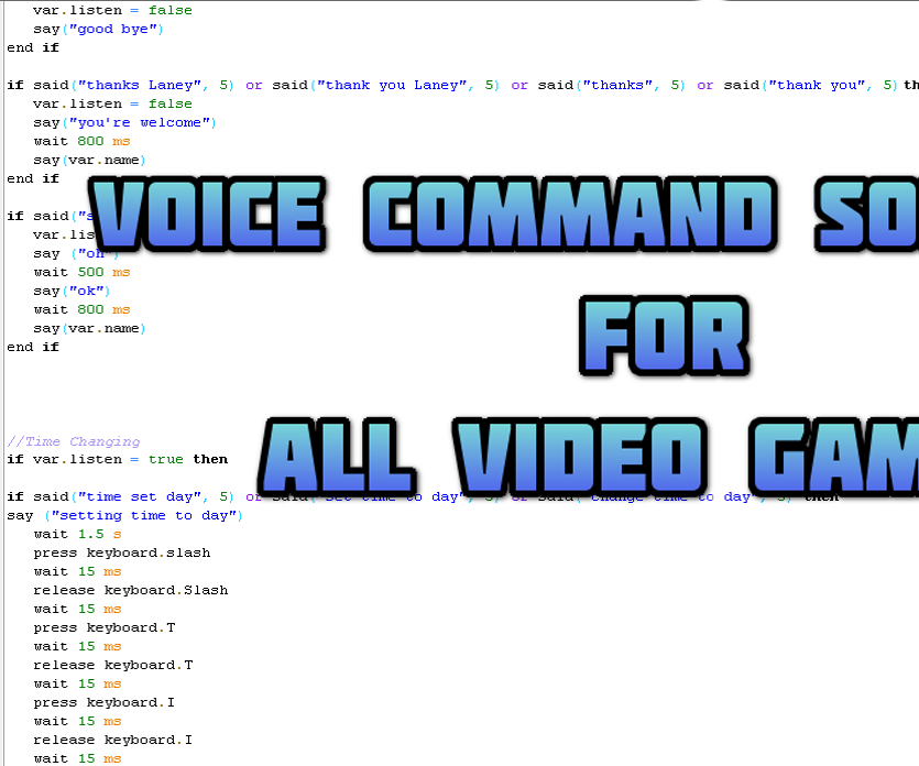 Voice Command Software for Video Games!