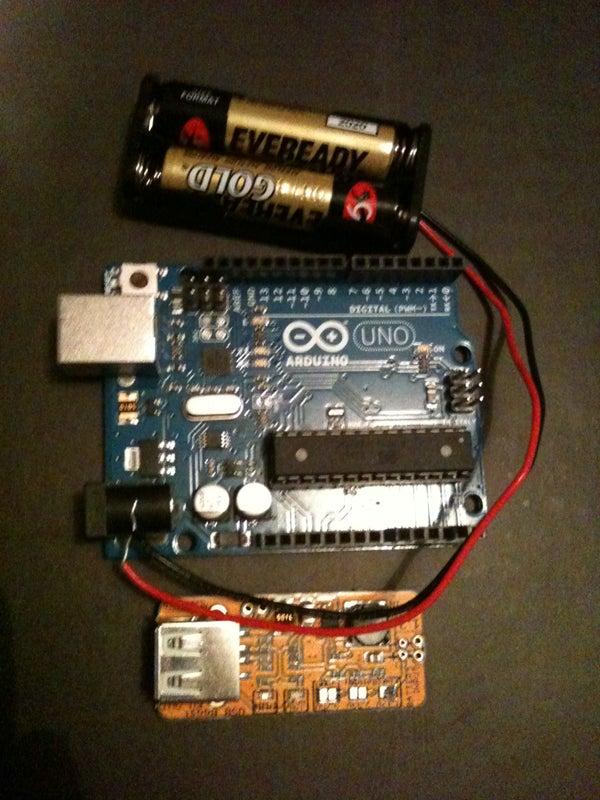 2xAAA Powered Arduino