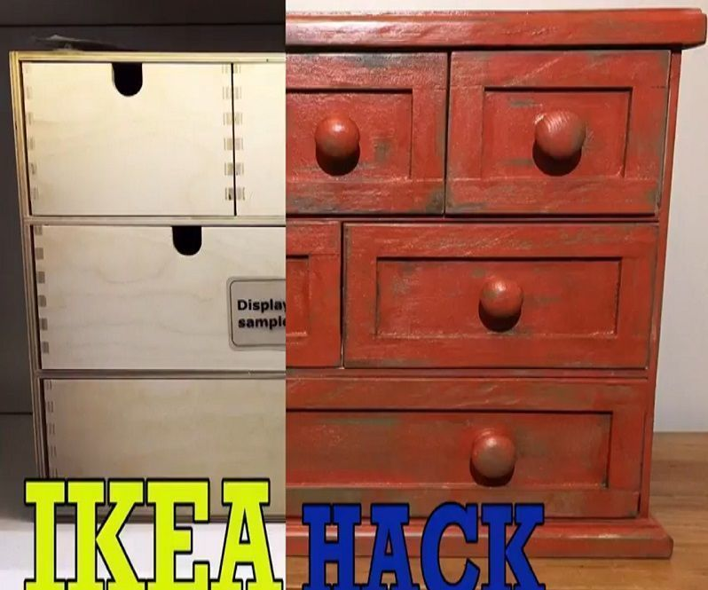 Ikea Hack : Moppe Drawers to Farmhouse Style by BCDesign1