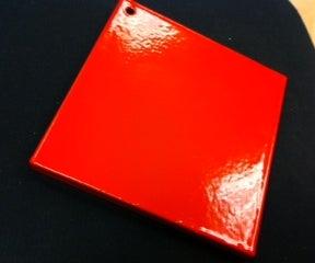 A Shiny Orange Square (Powder-Coated)