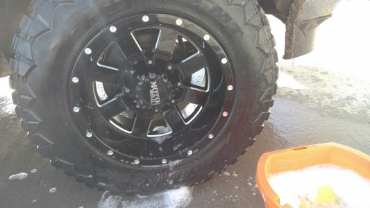 Let the Cleaning Solution Sit on Wheel.