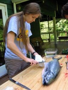 Cutting the Salmon