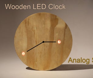 Wooden LED Clock - Analog Style