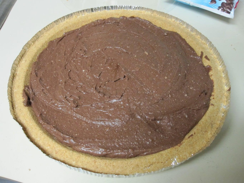 SIMPLE Vegan Tofu Chocolate Peanut-Butter Pie (for Your Crunchy GF)