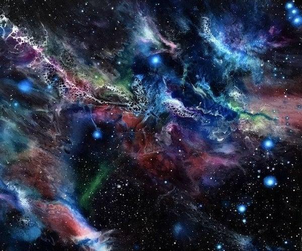"Rainbow Resin Galaxy by ""Lanchen Designs"""
