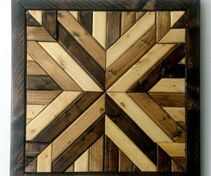 Wood Quilt Square Wall Decoration